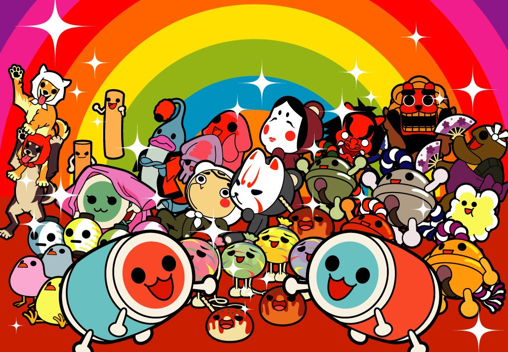 Illustration         officielle de Taiko no Tatsujin